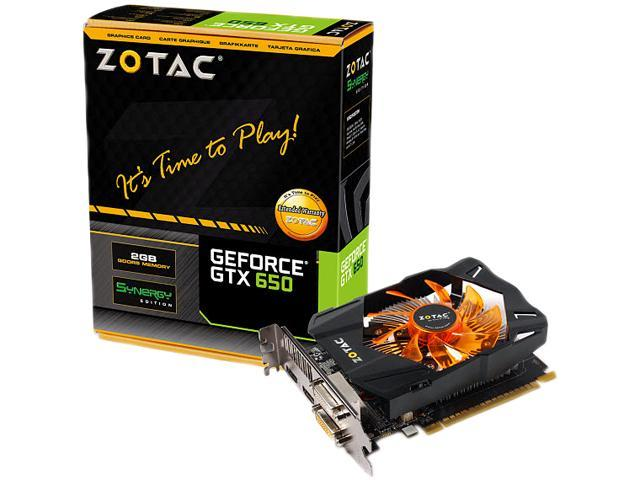 Zotac ZT-61010-10M GeForce GTX 650 Graphic Card - 1058 MHz Core - 2 GB GDDR5 SDRAM - PCI Express 3.0 x16