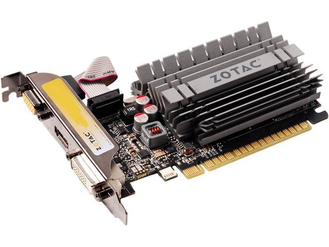 ZOTAC GT 600 GeForce GT 630 DirectX 11.1 API (feature level 11_0) ZT-60409-20L 2GB 64-Bit GDDR3 PCI Express 2.0 HDCP Ready Low Profile Ready ZONE Edition Video Card
