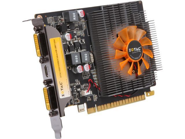 ZOTAC Synergy Edition GeForce GT 630 DirectX 11 ZT-60413-10L 4GB 128-Bit DDR3 PCI Express 2.0 x16 HDCP Ready Plug-in Card Video Card