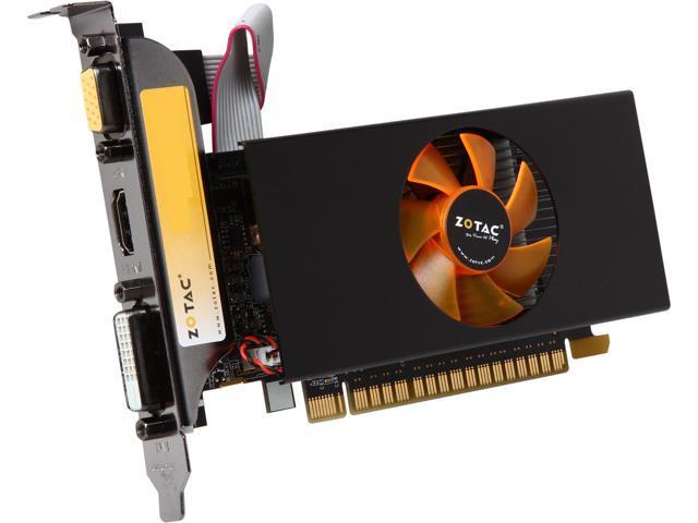 ZOTAC ZT-71101-10L GeForce GT 730 2GB 64-Bit GDDR5 PCI Express 2.0 x16 (x8 lanes) HDCP Ready Low Profile Ready Video Card