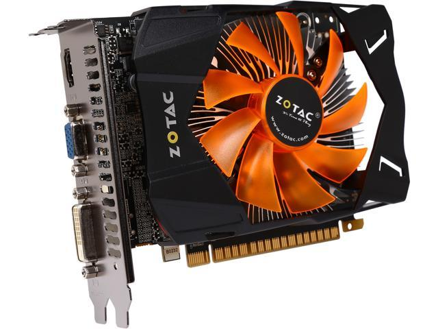 ZOTAC GeForce GTX 650 DirectX 11.1 ZT-61013-10M 2GB 128-Bit GDDR5 PCI Express 3.0 x16 HDCP Ready Video Card