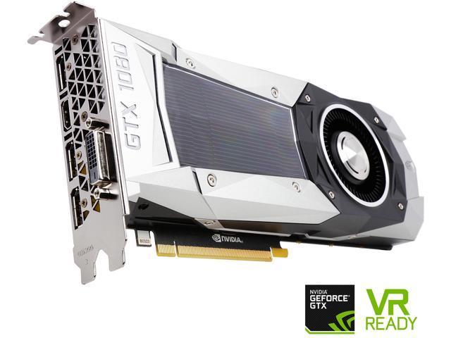 ZOTAC GeForce GTX 1080 FE DirectX 12 ZT-P10800A-10P 8GB 256-Bit GDDR5X PCI Express 3.0 HDCP Ready SLI Support Video Card VR Ready Founders Edition