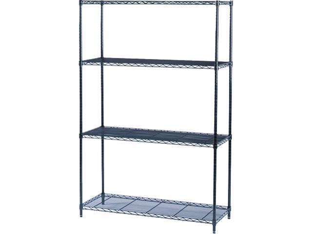 Safco 5291BL 4 Shelves Industrial Wire Shelving Starter Kit