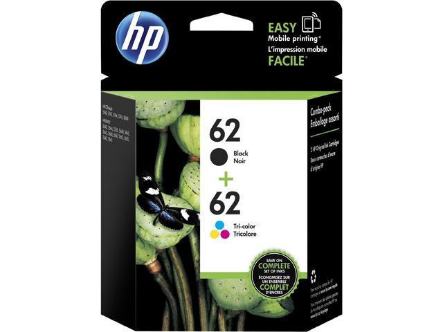 HP 62 (N9H64FN#140) Ink Cartridge 200 / 165 Page Yield; Black / Tri-color