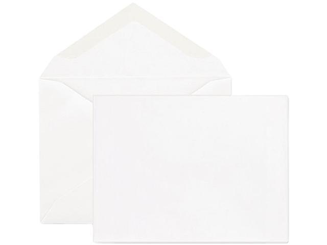 Quality Park CO298 Greeting Card Envelope, 5.75 x 8.75, 24 lb, White, 100-Box