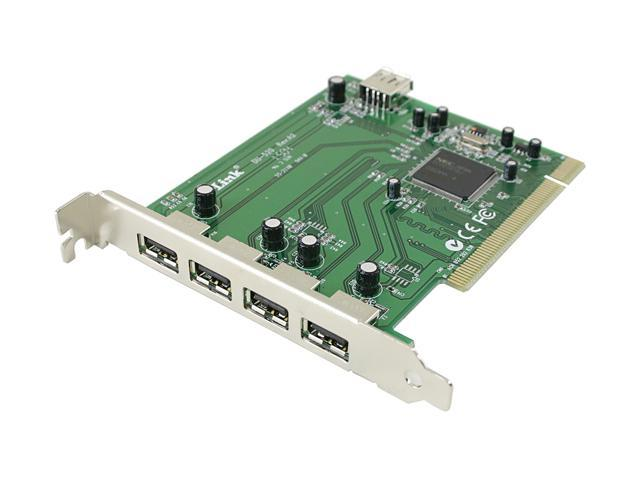 D-Link High Speed USB 2.0 5-Port PCI Adapter Model DU-520