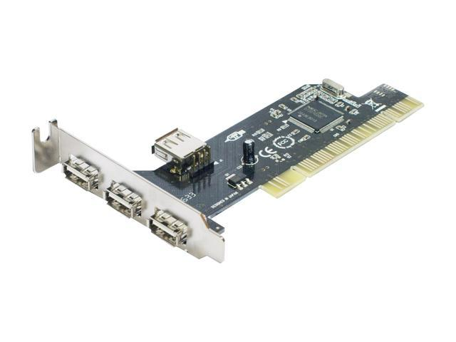 SYBA Lower Profile 4 Port USB 2.0 Card Model SD-LP-NEC4U