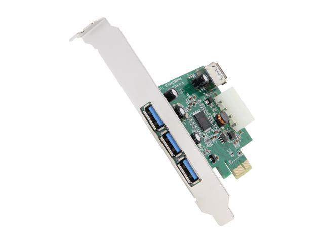 SYBA USB 3.0 (3+1) PCI-e Controller Card, Etron Chipset, Molex (IDE HD 4-pin) Built-in Model SY-PEX20135