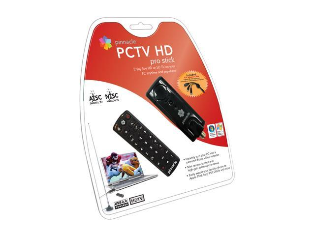 Pinnacle ATSC/NTSC USB TV Tuner and Capture w/ Mini Remote PCTV HD Pro Stick USB 2.0 Interface