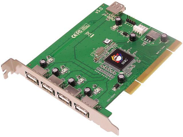 siig model ju p50212 s5 pci to usb card add on card newegg com siig usb 2 0 5 port pci card model ju p50212 s5