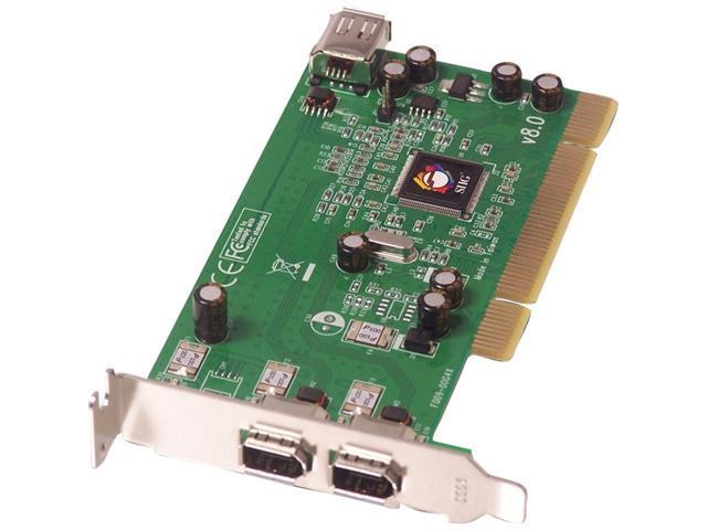 SIIG Low profile 1394 (FireWire) 3-port (2 ext. & 1 int.) host adapter Model LP-N21011-S8