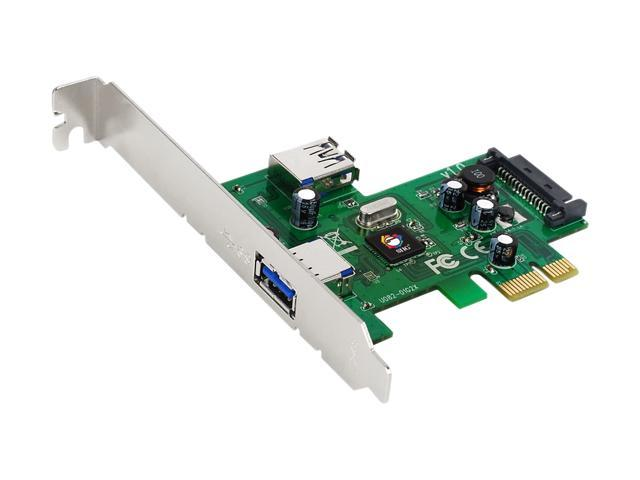 SIIG 2-port PCIe host adapter with 1 external & 1 internal SuperSpeed USB 3.0 ports Model JU-P20512-S1