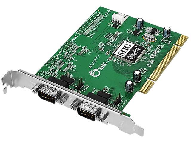 SIIG Dual Port Serial PCI Card Model JJ-P02012-S7