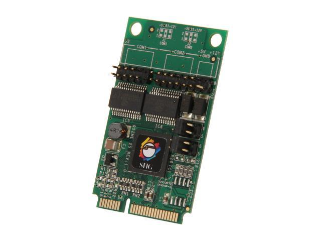 SIIG 2-Port RS232 Serial Mini PCIe with Power Model JJ-E20211-S1 - OEM