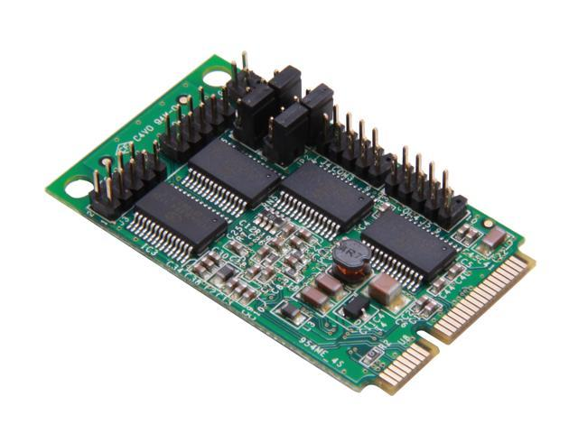 SIIG 4-Port RS232 Serial Mini PCIe with Power Model JJ-E40111-S1
