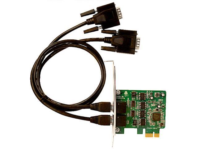 SIIG DP 2-Port Industrial 422/485 PCI Express Adapter Card with 3KV Isolation Model ID-E20211-S1