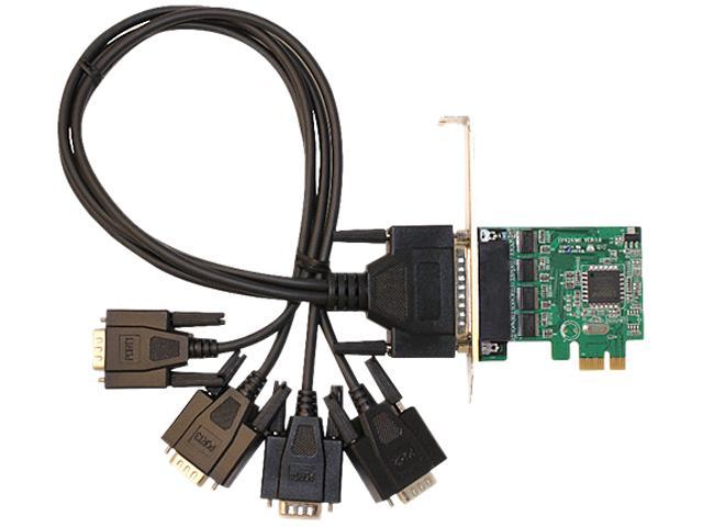 SIIG DP 4-Port Industrial RS-232 PCI Express Adapter Card Model ID-E40011-S1