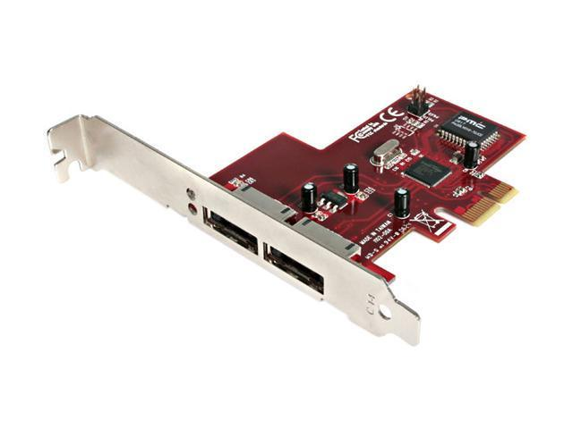 StarTech 2 Port PCI Express eSATA Controller Adapter Card Model PEXESATA2