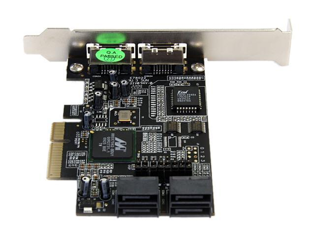 StarTech 4 Port SATA II PCI Express x4 Card Model PEXSATA24E
