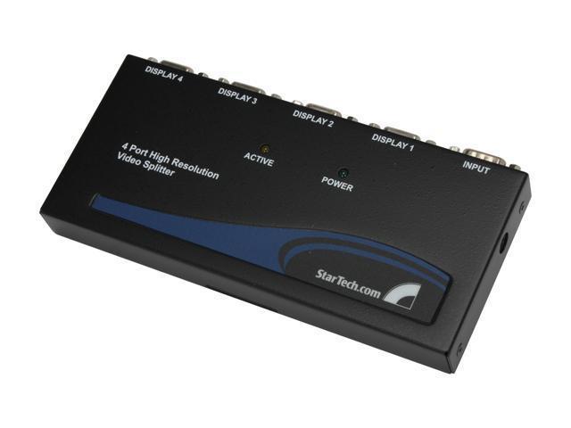 StarTech ST124PRO 4 Port High-Resolution 350 MHz VGA Video Splitter / Distribution Amplifier