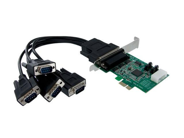 StarTech 4 Port Native PCI Express RS232 Serial Adapter Card with 16950 UART Model PEX4S952