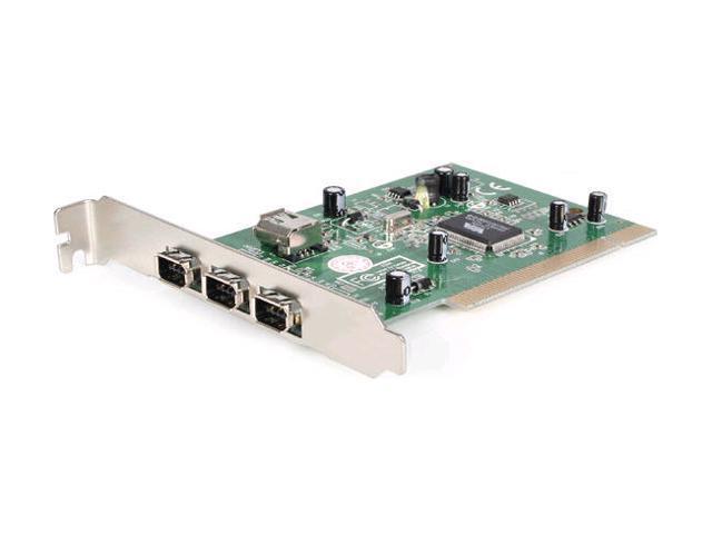 StarTech.com 4-Port PCI 1394a FireWire Adapter Card with Digital Video Editing Kit (PCI1394-4)