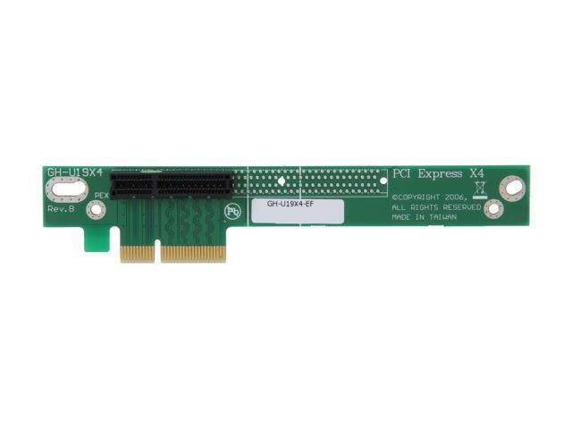 StarTech PCI Express Riser Card - x4 Left Slot Adapter for 1U Servers Model PEX4RISER