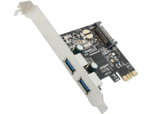 StarTech 2 Port PCI Express PCIe SuperSpeed USB 3.0 Controller Card w/ SATA Power Model PEXUSB3S23