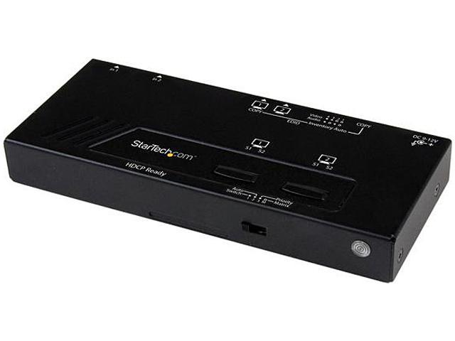 StarTech 2x2 HDMI Matrix Switch w/ Automatic and Priority Switching - 1080p VS222HDQ