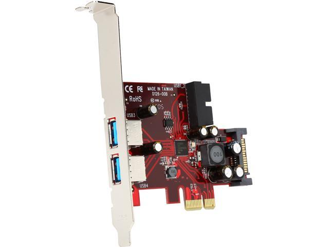 StarTech 4-port PCI Express USB 3.0 card - 2 external, 2 internal - SATA power Model PEXUSB3S2EI
