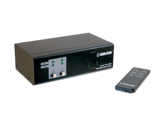 C2G TruLink 2x2 UXGA Video Matrix Switch with 3.5mm Audio 39973