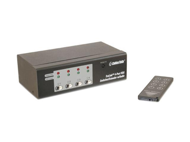 C2G TruLink 4-Port UXGA Monitor Switcher/Extender with 3.5mm Audio 39972