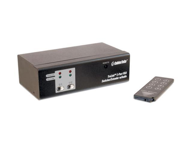 C2G TruLink 2-Port UXGA Monitor Switcher/Extender with 3.5mm Audio 39971