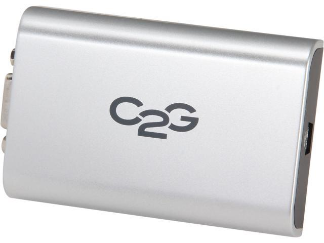 C2G 30545 USB to VGA External Video Card Adapter Up To 1920 x 1080