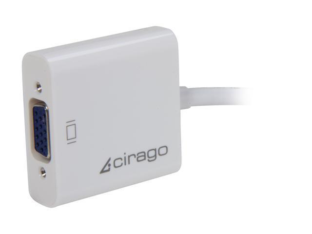 Cirago DPN2012 Mini DisplayPort to VGA (HD-15) Adapter