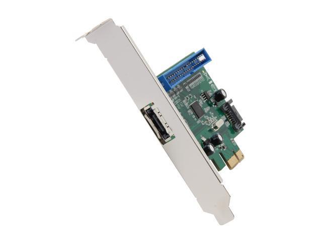 BYTECC PCIe SATAIII 6Gbps 1 INTERNAL SATA port + 1 EXTERNAL eSATA port Host Card Model BT-PES321i