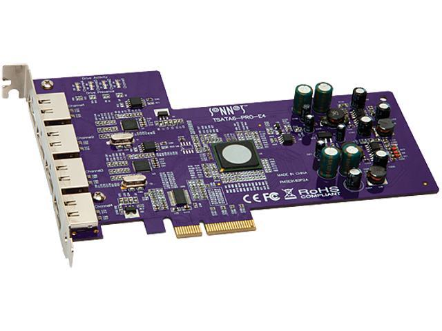 SoNNeT Tempo PCI-Express 2.0 Card with 4 External eSATA Ports Model TSATA6-PRO-E4