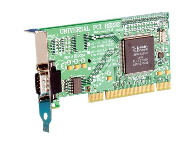 Brainboxes 1 Port RS232 Low Profile PCI Serial Card Model UC-235-001