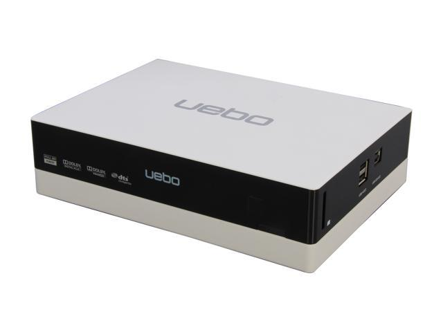 UEBO M200-W-US 1080p Networked USB 2.0 HD Media Player, 3.5