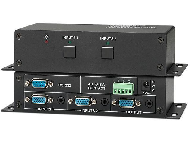 KanexPro VGA 1x2 Auto-Switcher with Stereo Audio VGASW2A