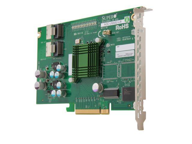 SUPERMICRO AOC-USAS2-L8i PCI Express SATA / SAS Eight-Port Internal RAID Adapter