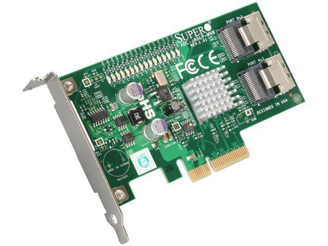 SUPERMICRO AOC-SASLP-MV8 PCI-Express x4 Low Profile SAS RAID Controller