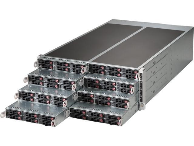 SUPERMICRO SuperServer SYS-F617R2-R72+ 4U Rackmount Server Barebone (8 Nodes)