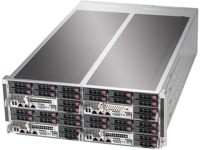 SUPERMICRO SYS-F617R2-F73 4U Rackmount Server Barebone (8 Nodes) Dual LGA 2011 Intel C602 DDR3 1600/1333/1066/800