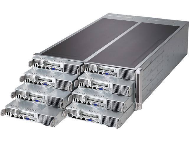 SUPERMICRO SYS-F617R3-FT 4U Rackmount Server Barebone (8 Nodes) Dual LGA 2011 Intel C602 DDR3 1600/1333/1066/800