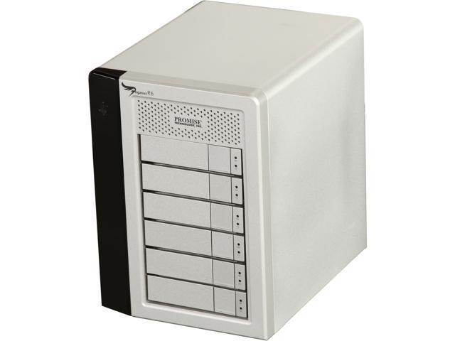 PROMISE Pegasus PR602US 12TB (6x2TB) 7200RPM SATA RAID 0, 1, 5, 6, 10 with 2 x Thunderbolt 10Gb/s port 6-Bay RAID Enclosure