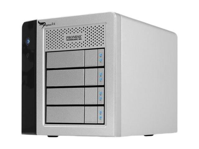 PROMISE Pegasus R4 RPR402US RAID 0/1/5/6/10 2 x Thunderbolt Port - 10Gb/s (or 1.25GB/s) 4-Bay RAID Enclosure (8TB)