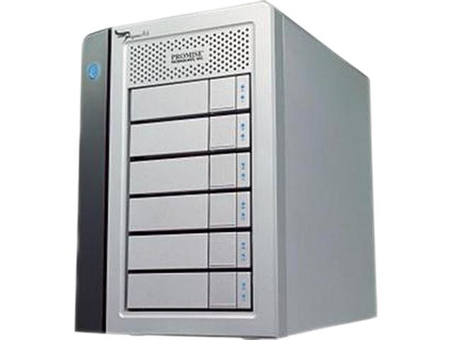 PROMISE Pegasus R6 RPR602US RAID 0/1/5/6/10 2 x Thunderbolt Port - 10Gb/s (or 1.25GB/s) 6-Bay RAID Enclosure (12TB)