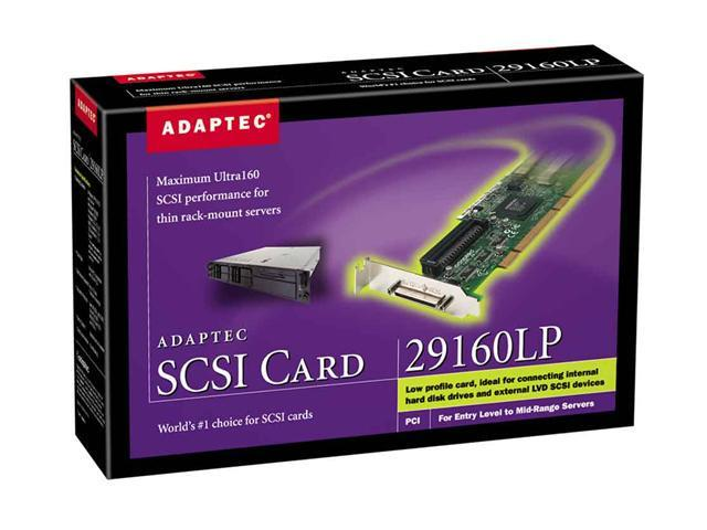 Adaptec 1863700-R PCI SCSI 29160LP Ultra160 SCSI Card Kit