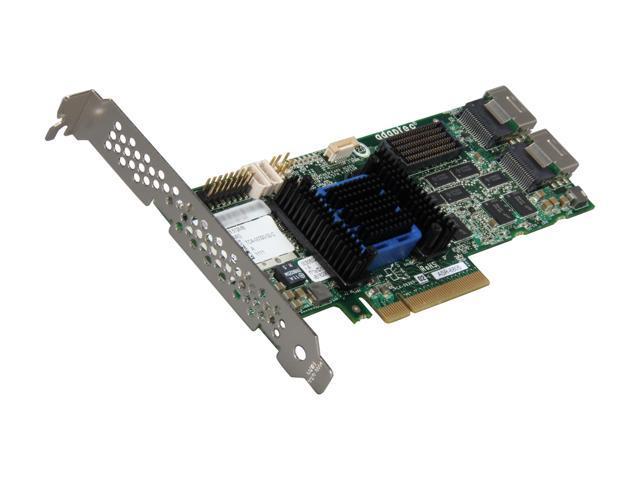 Adaptec RAID 6805 2270100-R 6Gb/s SATA / SAS 8 internal ports w/ 512MB cache memory Controller Card, Single